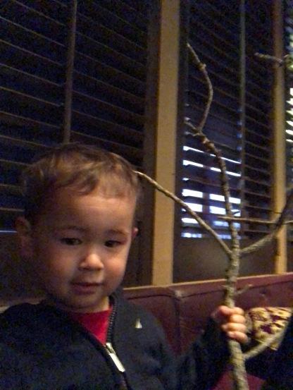 Look, Ma! My stick!