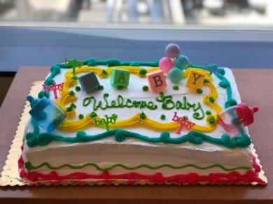 Marble cake + custard filling + strawberries = DIVINE!