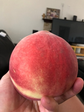 Huge white peach from Kgroc store