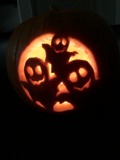 Friendly ghost family Jack-o-Lantern!